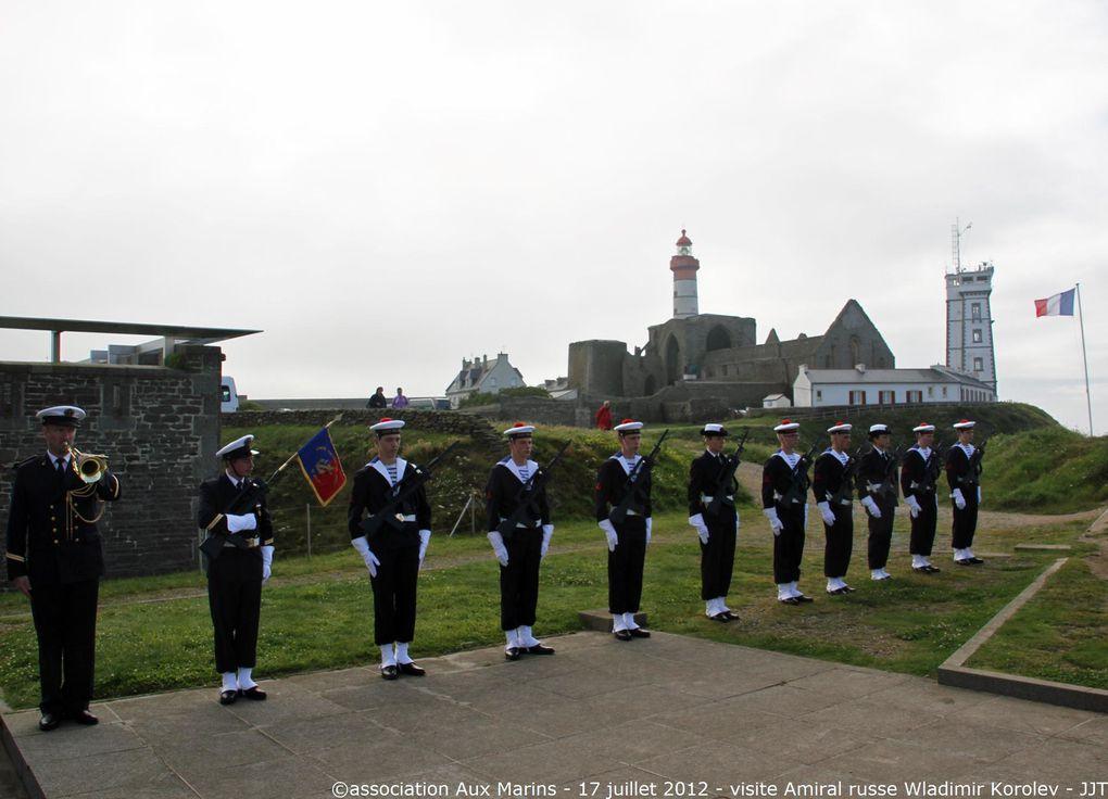 L'Amiral Korolev était invité par l'Amiral Labonne, préfet maritime de l'Atlantique, dans le cadre de la venue à Brest des bâtiments russes participant à Tonnerres de Brest. Photos Jean-Jacques Tréguer