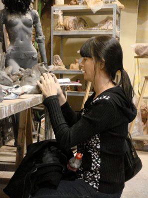 Stage de modelage sur le thème sculptures animalières, animé par Armelle Normand