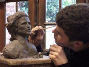 modeler un buste d'après modèle vivant
