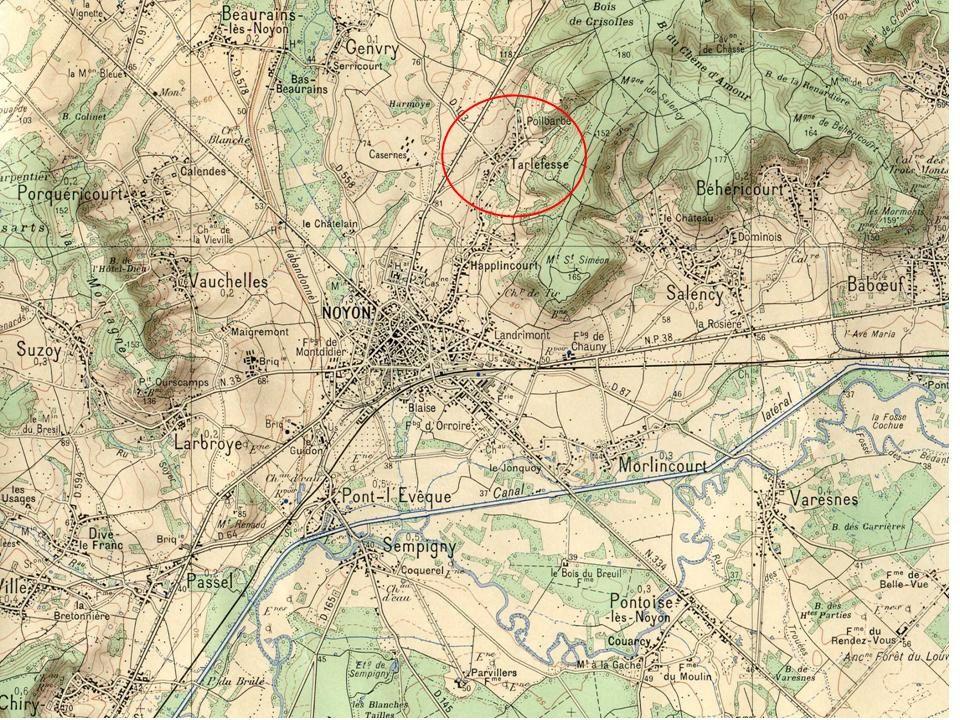 Album - la ville de Noyon (Oise), le Hameau de Tarlefesse, son Histoire