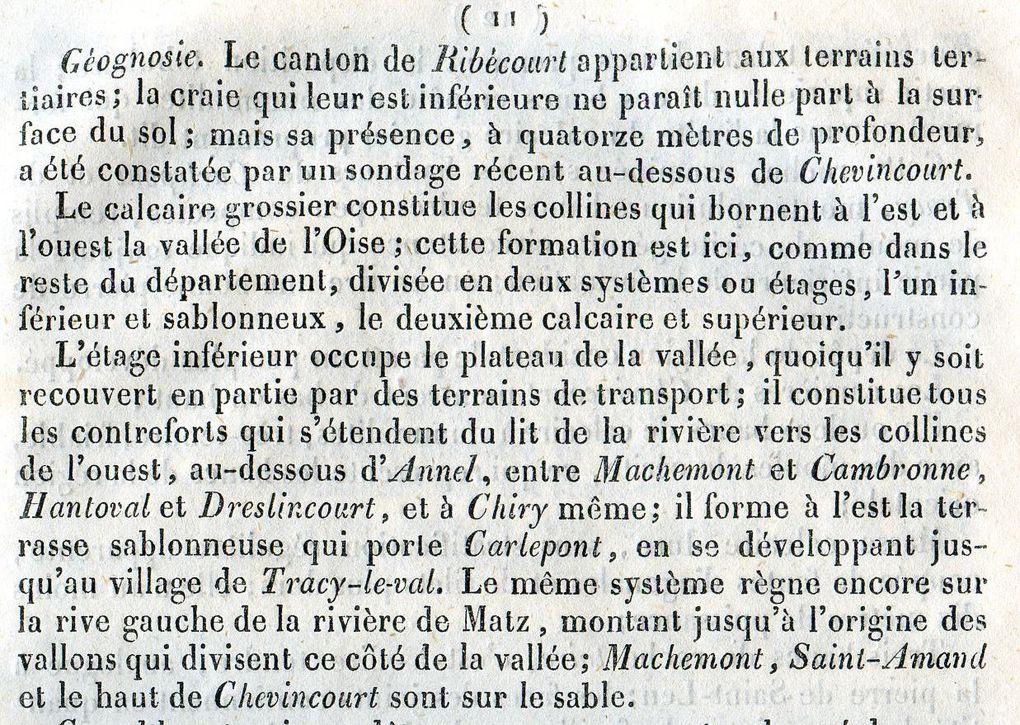 Album - le canton de Ribecourt (Oise), sa situation en 1839 (1ére partie)