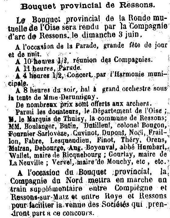 Album - le village de Ressons sur Matz (Oise), au fil des mois des années 1800 et 1900