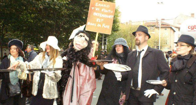 19 octobre 2010 au Puy-en-Velay : manifestation contre la réforme des retraites - Crédit photos : Claude E.