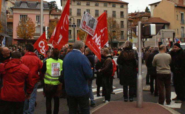 Le Puy-en-Velay: 8ème journée de mobilisation nationale pour la défense des retraites - Crédit photos: Claude E.