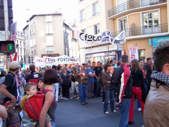 Manifestation retraites 23 septembre 2010 au Puy