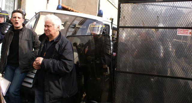 A l'appel de l'intersyndicale, manifestation lors de la venue de Sarkozy au Puy le 3 mars 2011 - Crédit photos: Claude E.