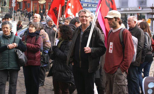 Manifestation de soutien à Vazgen Asryan et sa famille menacés d'expulsion le 15/01/2011 au Puy - Crédit photo: Claude E.