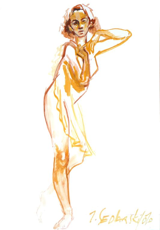 Ariane Lumen , peinte par Jivko Sedlarski, artiste peintre et plasticien à Rennes