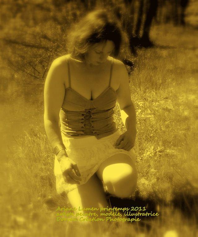 Ariane Lumen, artiste peintre et modèle