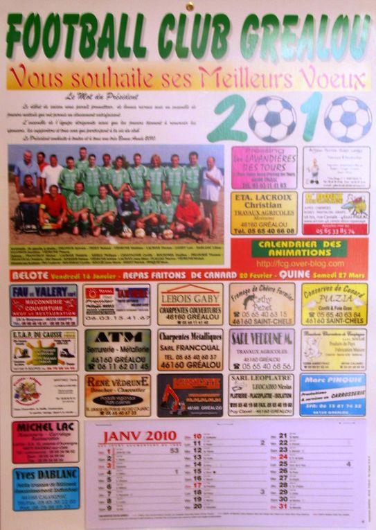 Calendriers du FC GréalouSaisons : 06/07, 07/08, 08/09, 09/10.