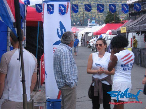 Epreuve supermotard de l'Alpe d'Huez week-end du 8/9 Août 2009 - Team 17 pouces sponsorisée par Shark Energy Drink