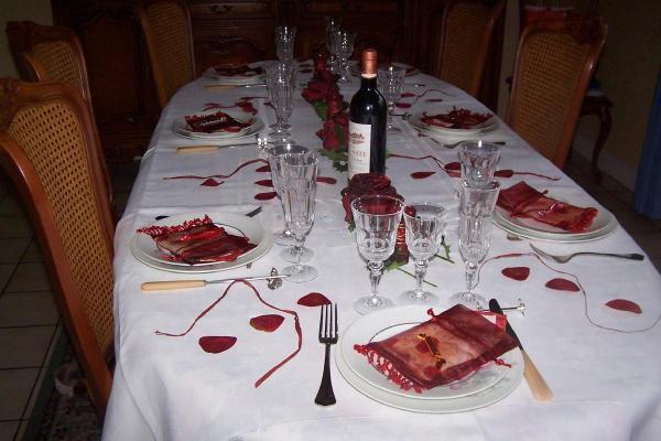Une belle table fait parti pour moi d'une bellle reception.