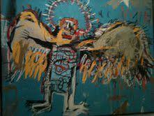 Jean-Michel Basquiat, né à Brooklyn le 22décembre1960 et mort le 12août1988 à SoHo, est un artiste peintre américain d'origine haïtienne et porto-ricaine...Photo prise lors de l'expo au Musee d'art moderne a paris by ms.oussou