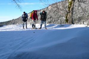 Rando dans le Bugey en hiver : neige, soleil, une vue merveilleuse sur le Grand Colombier...