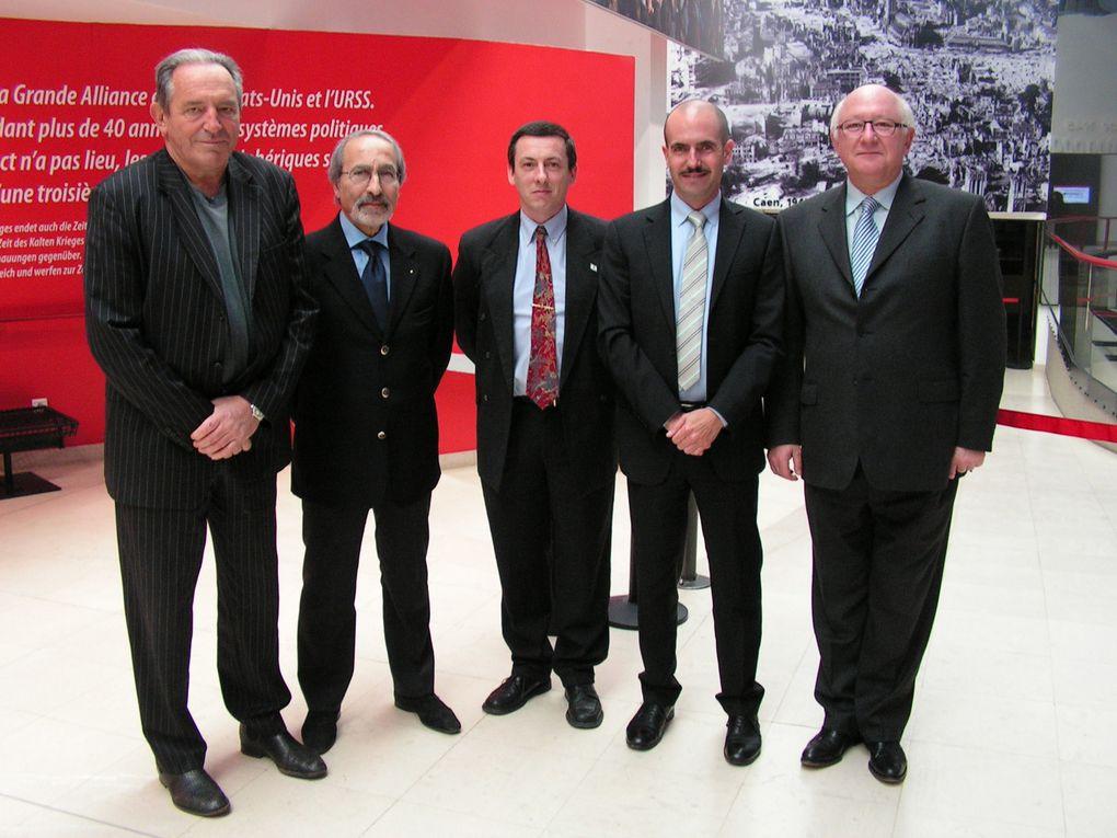 Différents représentants de l'Ambassade d'Israël à Paris en visite et invitation sur Caen.- Merci à Mr Ankermann pour les photos offertes -