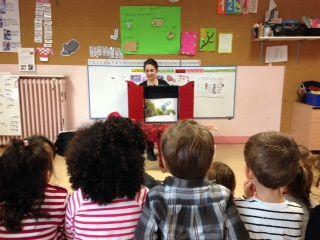 Intervention en tant qu'auteure dans les écoles maternelles et primaires.Salons du livre