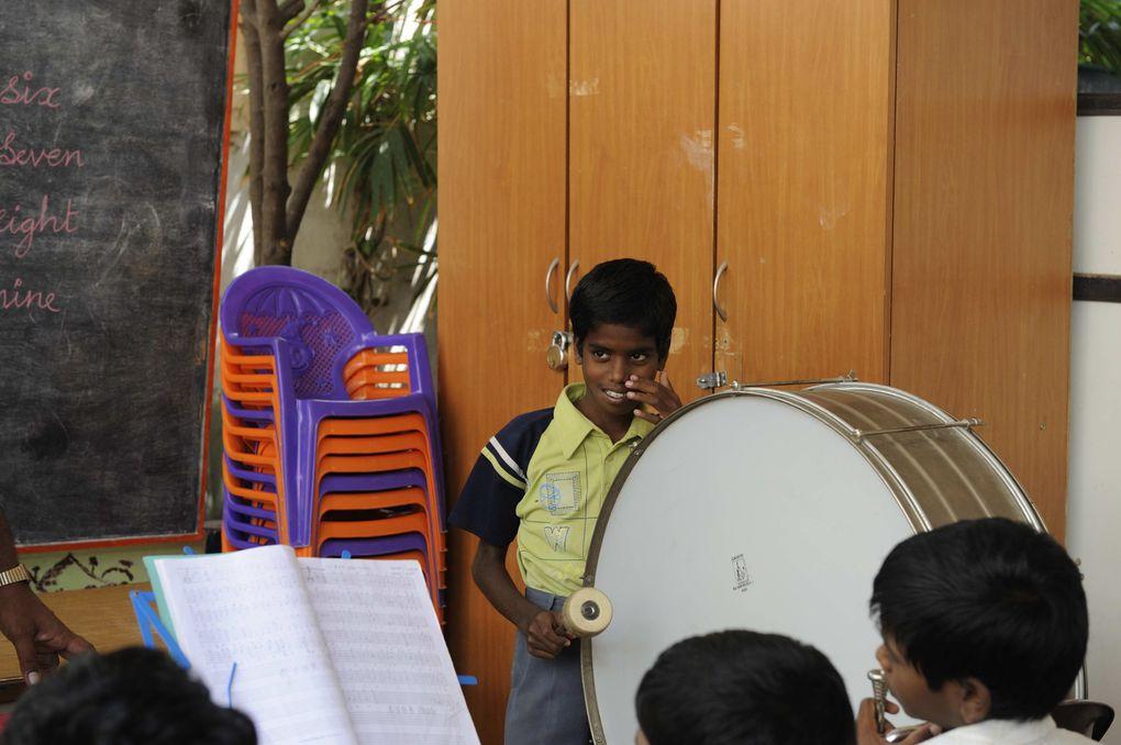 L'orchestre de cuivres chez VK, les photos