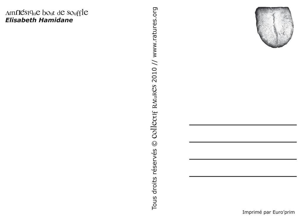 Poésies postales RAtUReS !! Voir page de PUBLiCATiONS//Passez vos commandes par email : contact@ratures.org