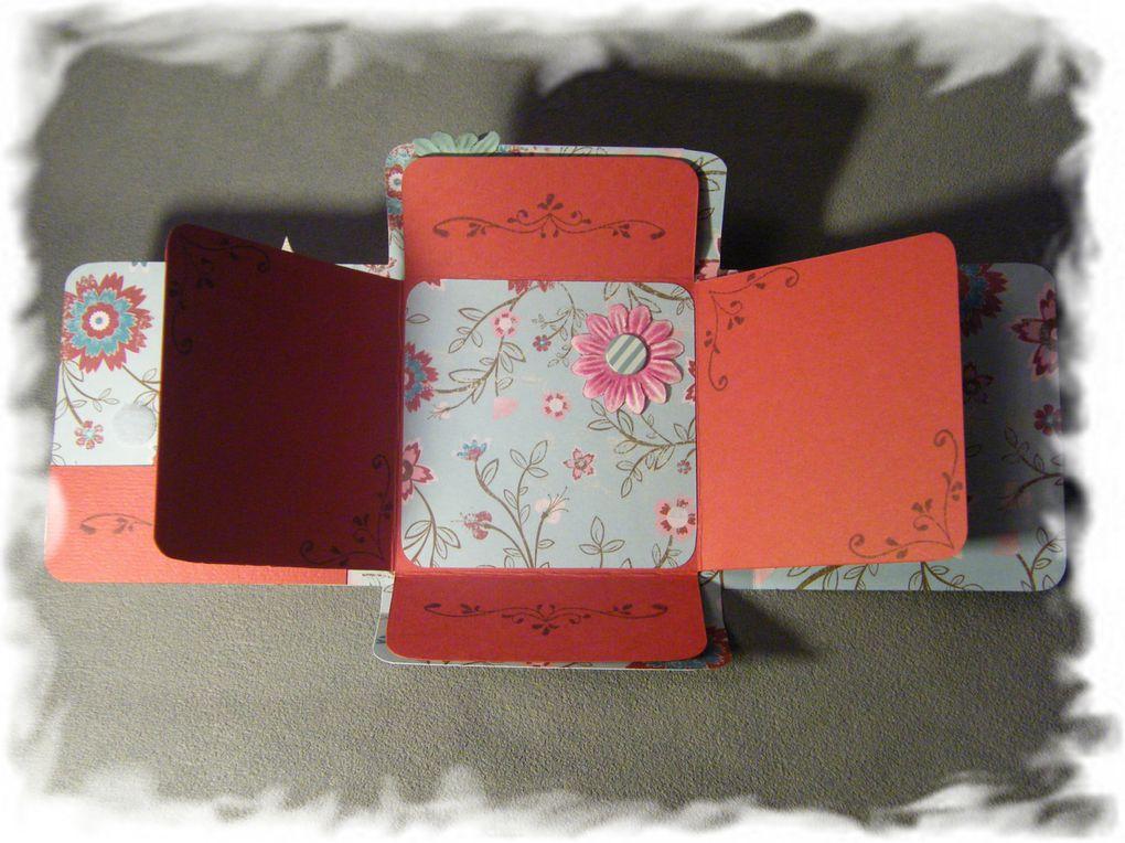voici les différents modèles de minis albums que je réalise