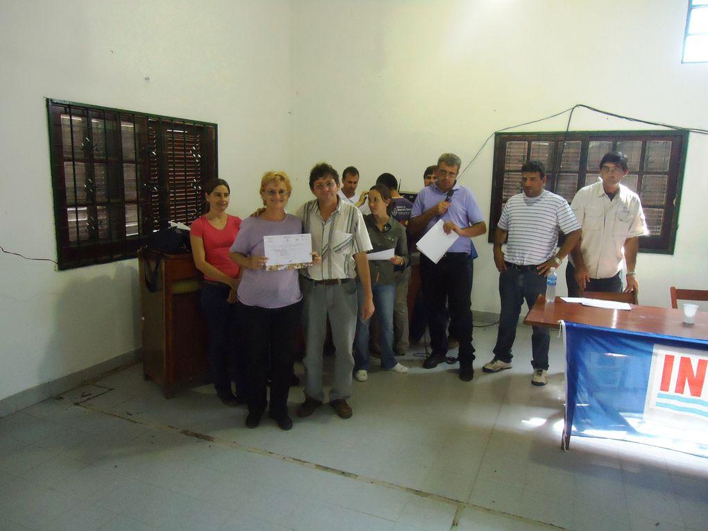 Certificación de competencia para promotores y beneficiarios del Programa Pro Huerta. Los mismos se entregaron nen la localidad de Saenz Peña en la sede del Zoológico Municipal de dicha localidad