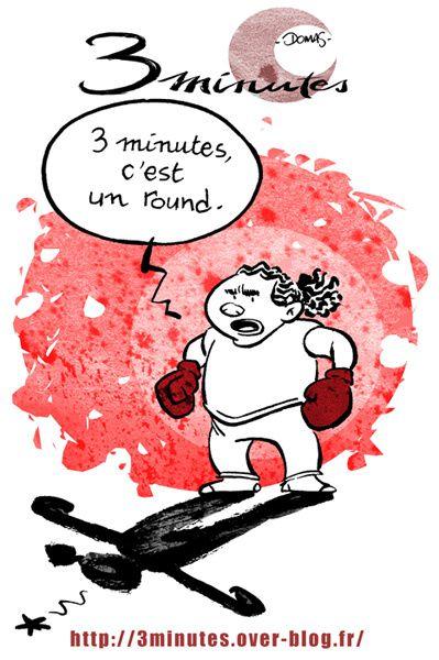 Que peut on faire en trois minutes? Retrouvez ici, dans les mois qui viennent, des dessins disséminés au préalable dans la blogosphère ...