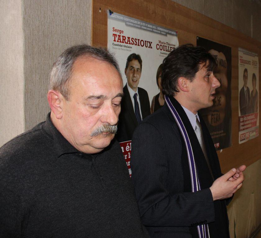 Diverses photos de Serge Tarassioux, dans ses fonctions de maire, comme militant communiste, comme candidat, comme père de famille.