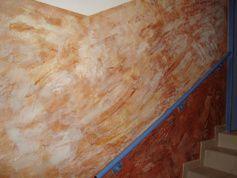 Exemples et diaporama de photos de jolis stucs vénitiens à la poudre de marbre, recette maison, travail soigné, devis sur demande