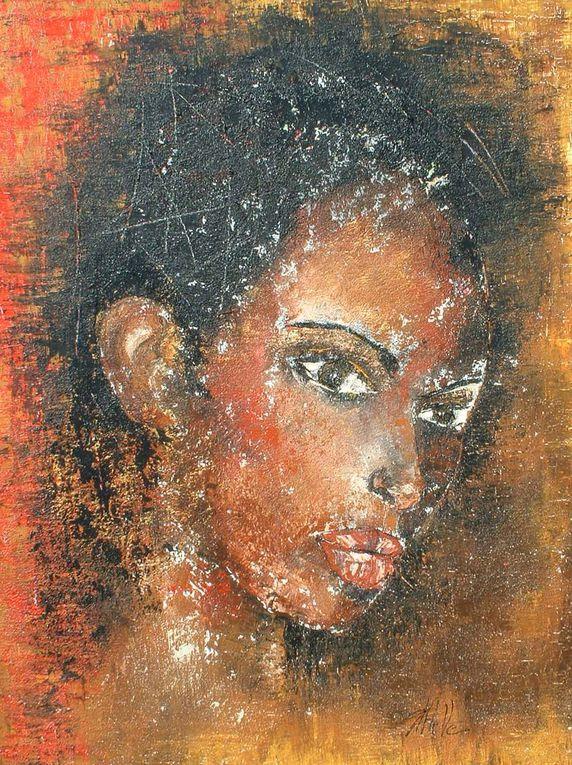 peintures au couteauAcrylique sur toile lin ou coton