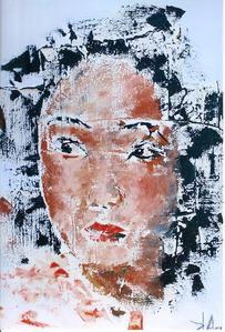 peintures au couteauAcrylique sur toile de lin ou de coton