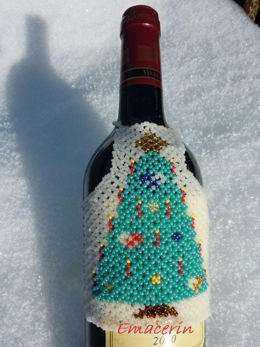 Théma : Décos de NoëlSurprise : Tablier de Noël pour bouteille