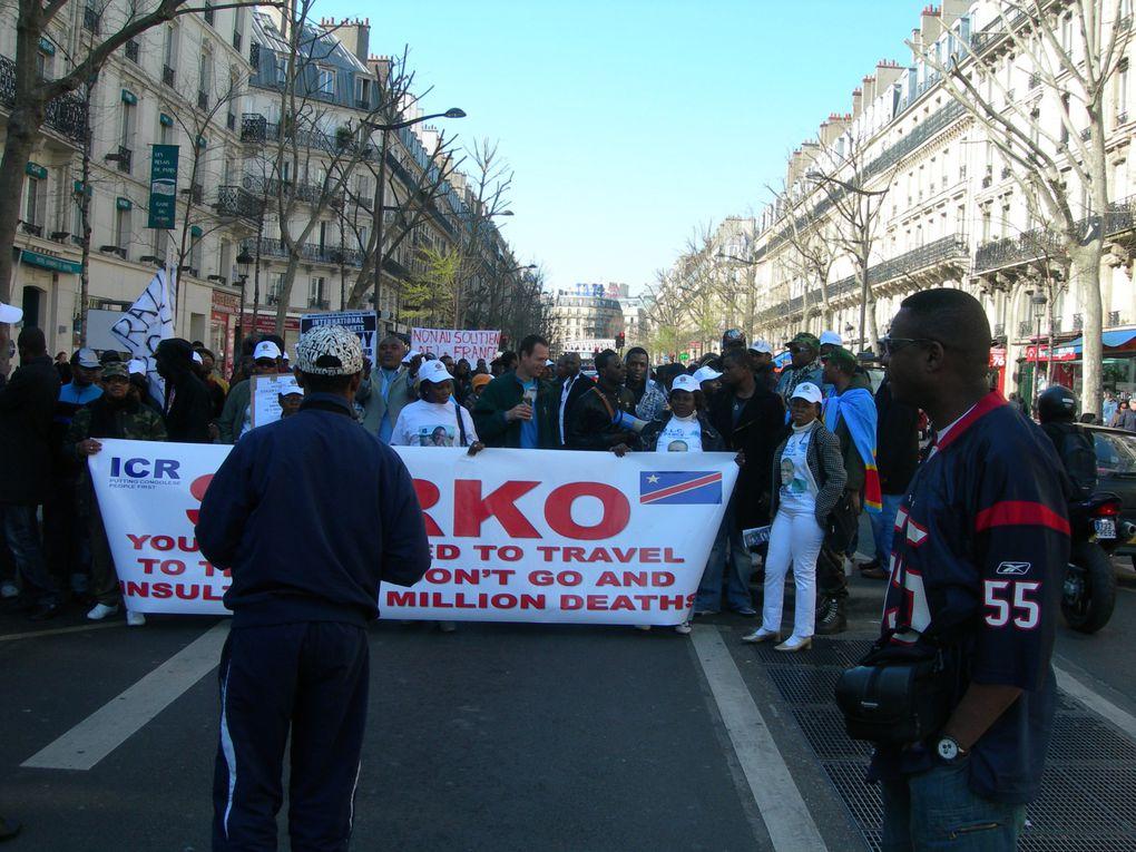 Manifestation Contre le Voyage de Nicolas SARKOZY dans les deux Congos
