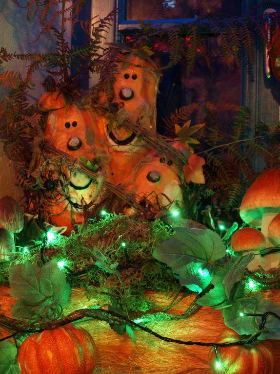 photos de la décoration automne-Halloween 2012 à la crêperie Ar Vag au Guilvinec