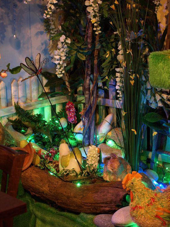 photos de la décoration de la crêperie Ar Vag au Guilvinec - Finistère- Pâques 2012