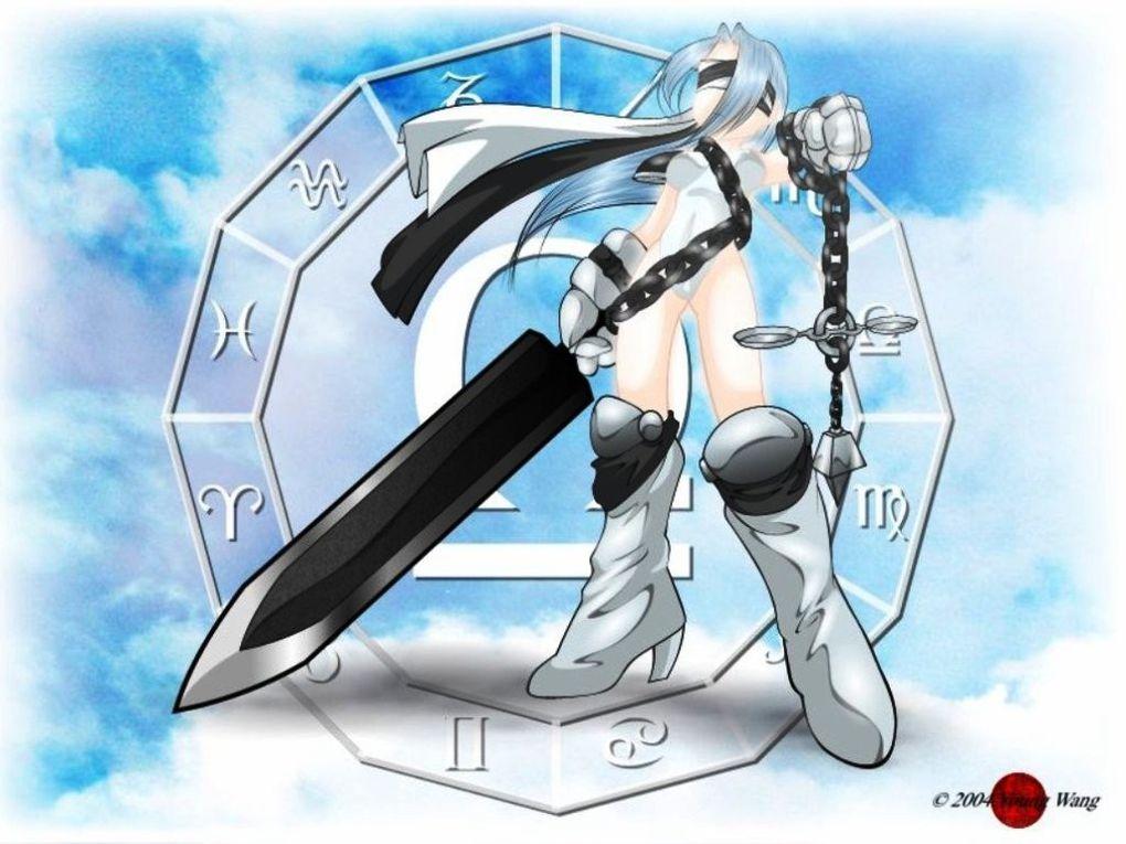 La representación de cada signo del horóscopo al estilo manga y de manera muy artística... artísticamente invaden mis pensamientos...