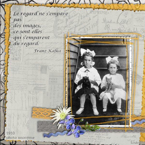 Photos d'antan, photos oubliées, photos nostalgie pour faire de belles pages de scrap...