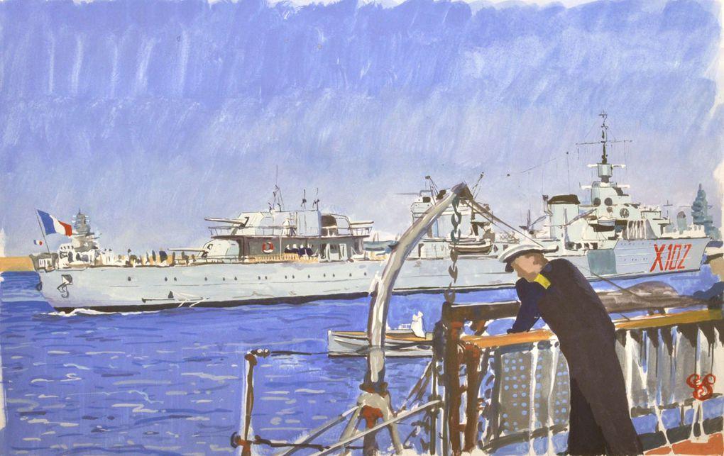 Illustrations de navires militaires (La Royale et autre)