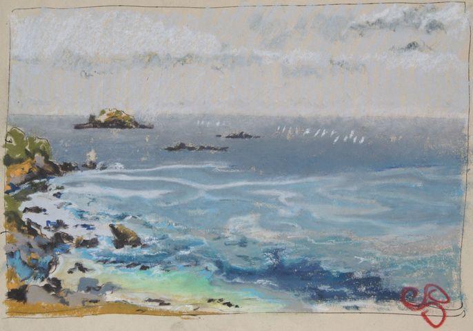 Illustrations de paysages de bord de mer et autre