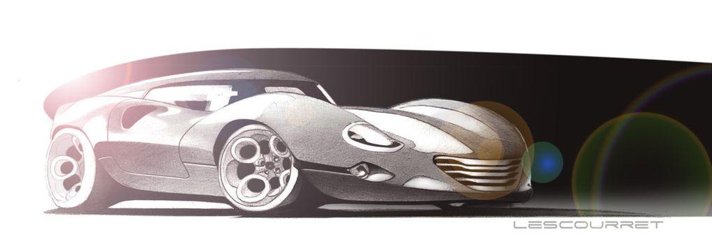 Illustrations de concepts de véhicules