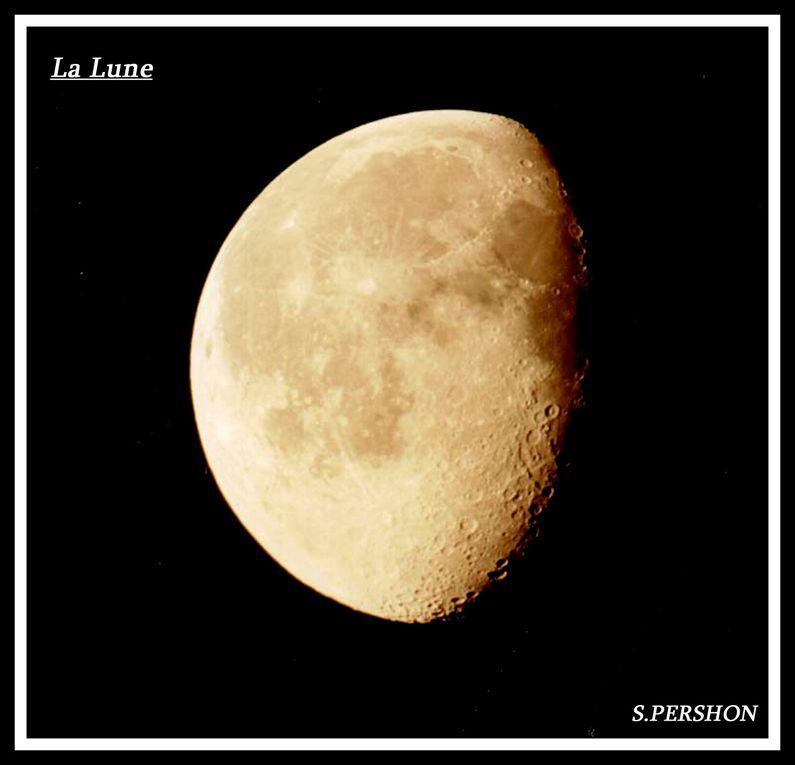 des photos de la lune selon les phases.