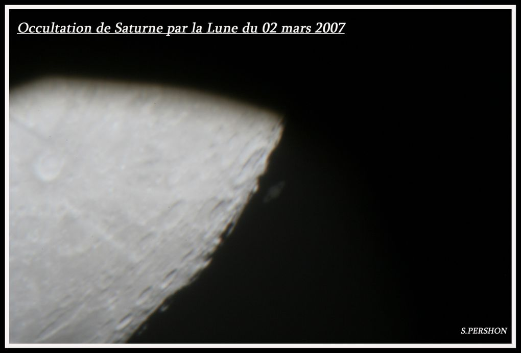 photos de planètes,occultations de planètes ou transits