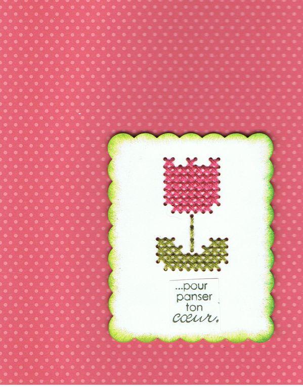 Voici quelques cartes réalisée par mes soins, avec différents tampons, et principalement les Magniolias.