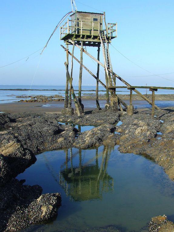 Pêcheries situées entre St Marc sur Mer et Préfailles en Loire-Atlantique.
