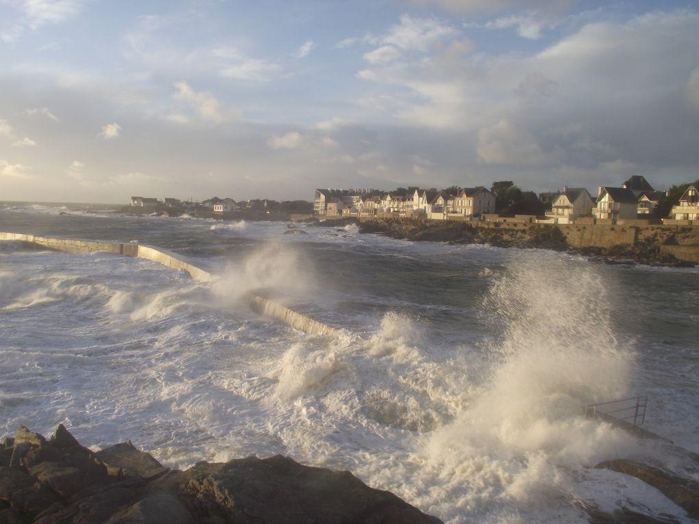 Gros temps sur la côte atlantique entre le Croisic et St Nazaire