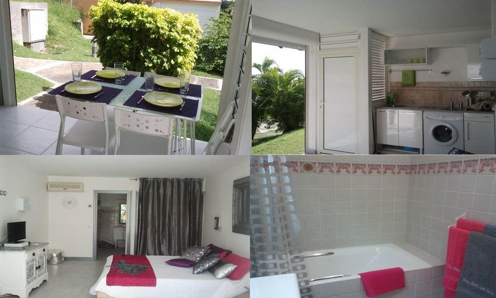 rdc d'un bungalowbon standinglinge de maison fournilave lingeTV LCD avec la TNTcuisine équipéechambre climatiséeun lit double et 2 lits pliants