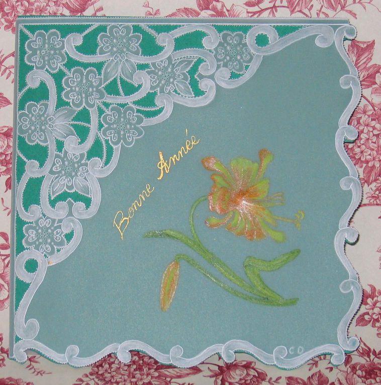Cet album regroupe toutes les réalisations de Colette en pergamano (cartes, objets en 3D,..) pour tous les évènements de la vie (naissance, baptême, communion, mariage, fêtes : Mères, Pères, St Valentin, anniversaires,...).