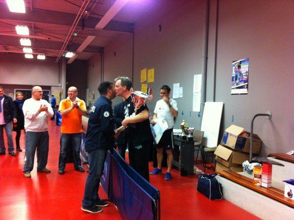 Quelques photos de la remise des lots lors de la 4ème édition du tournoi de tennis de table.