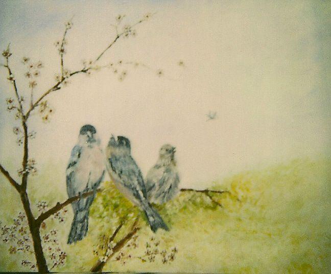 divers tableaux selon ... huile acrylique sur toile