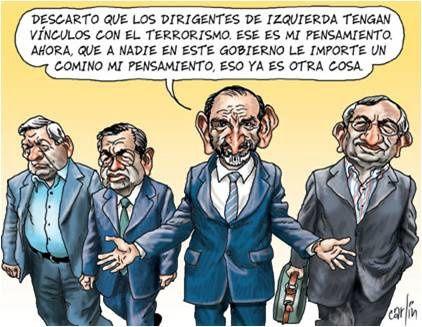 Hechos de la politica peruana poresentados por el caricaturista Carlin