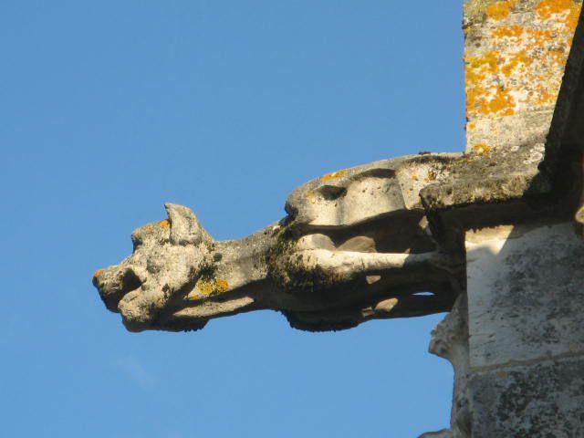 DREUX-Eglise St Pierre.En levant la tête : De surprenantes gargouilles.