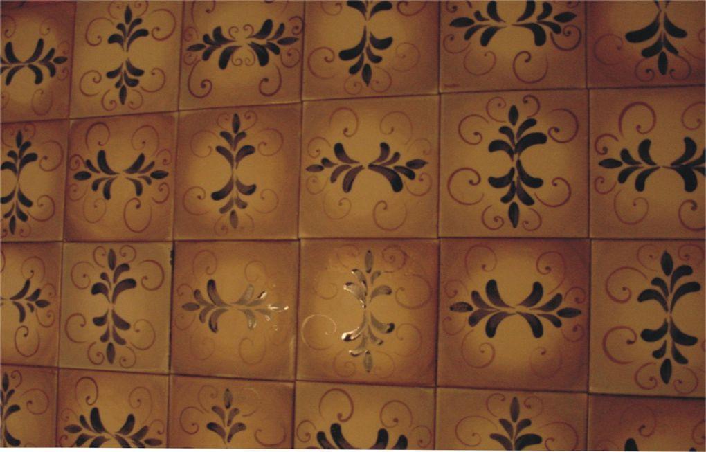 Imágenes de los azulejos de Santa María de los Buenos Aires.